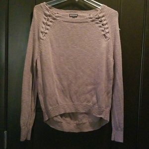 Express Lace Up Sweater